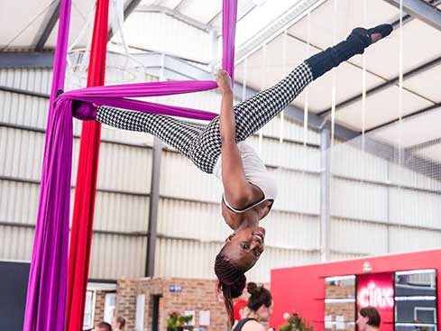 The Cirk Fitness Aerial Class
